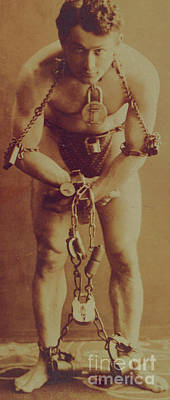 Harry Houdini In Chains Poster