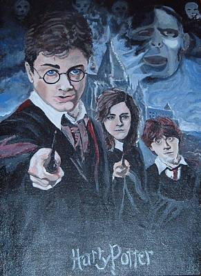 Harry Potter Poster by Julie Cranfill