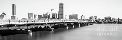 Harvard Bridge Boston Skyline Panorama Photo Poster