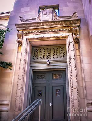 Harvard Building Entrance Poster