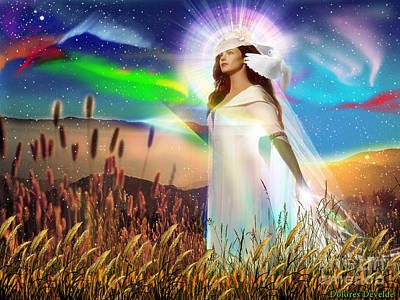 Poster featuring the digital art Harvest Bride by Dolores Develde