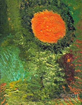 Harvest Moon Abstract Poster by Shelly Wiseberg