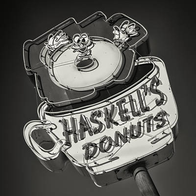 Haskell's Donuts Sign #2 Poster by Stephen Stookey