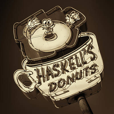 Haskell's Donuts Sign #3 Poster by Stephen Stookey