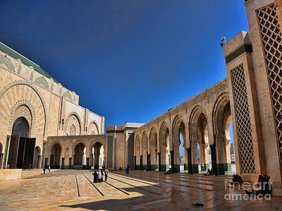Hassan II Mosque 3 Poster by Chuck Kuhn