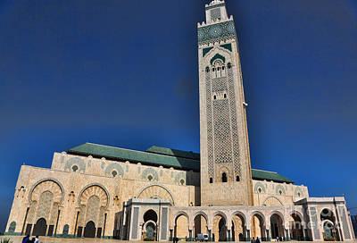 Hassan II Mosque Casablanca A Poster by Chuck Kuhn