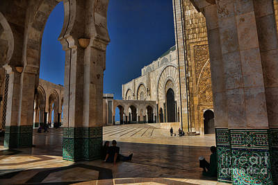 Hassan II Mosque  Poster by Chuck Kuhn