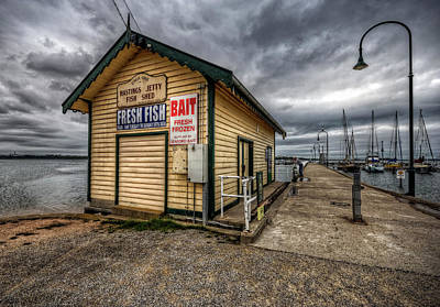 Hastings Jetty Poster by Wayne Sherriff