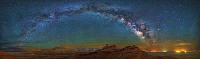Hat Rock Milky Way Poster