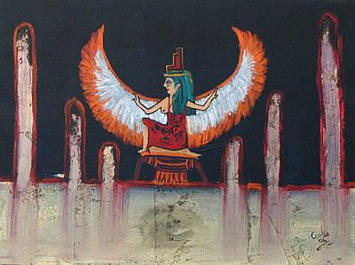 Hathor Poster by Corlia Chameleon