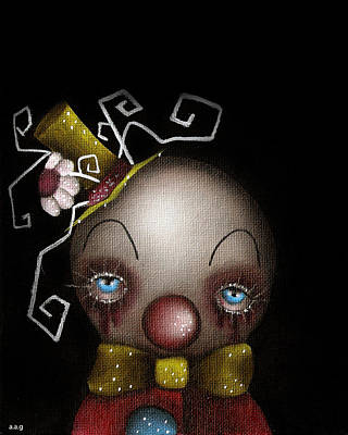 Hatter Clown Poster by  Abril Andrade Griffith