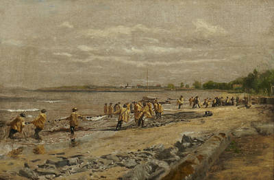 Hauling The Seine Poster by Thomas Eakins