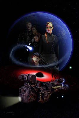 Poster featuring the digital art Haunted Empire by Jeremy Martinson