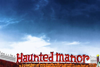 Haunted Manor  Poster by Colleen Kammerer