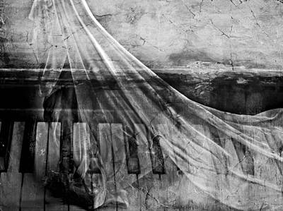 Haunted Piano Poster by Linda Sannuti