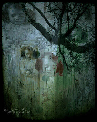 Poster featuring the digital art Haunting by Delight Worthyn