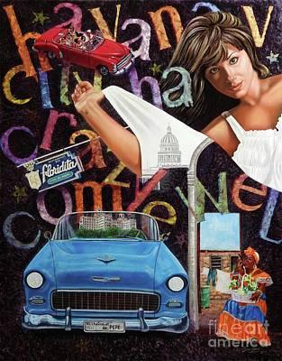 Havana City Poster by Jorge L Martinez Camilleri