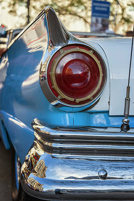 Poster featuring the photograph Havana Cuba Vintage Car Tail Light by Joan Carroll