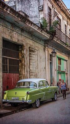 Havana Street Scene Poster