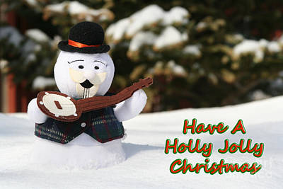 Have A Holly Jolly Christmas Poster by Deborah A Andreas