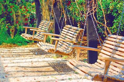 Poster featuring the photograph Have A Seat Relax by Donna Bentley
