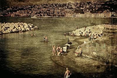 Having A Swim In Naples Poster