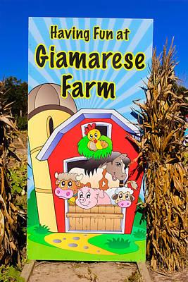 Having Fun On The Farm Poster