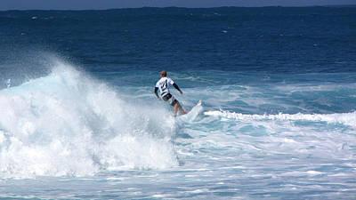 Hawaii Pipeline Surfer Poster