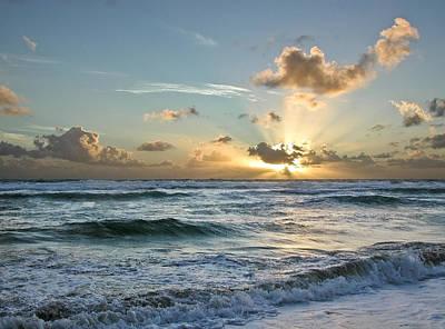 Hawaii Sunrise Poster by Robert Ponzoni