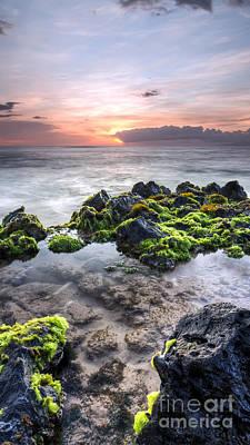 Hawaii Tide Pool Sunset Poster