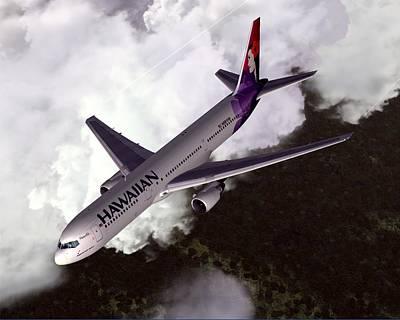 Hawaiian Airlines Boeing 767-300er Poster