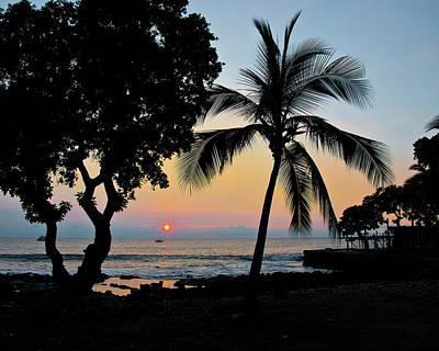 Hawaiian Big Island Sunset  Kailua Kona  Big Island  Hawaii Poster by Michael Bessler