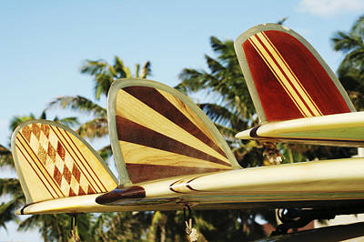 Hawaiian Design Surfboards Poster by Vince Cavataio - Printscapes