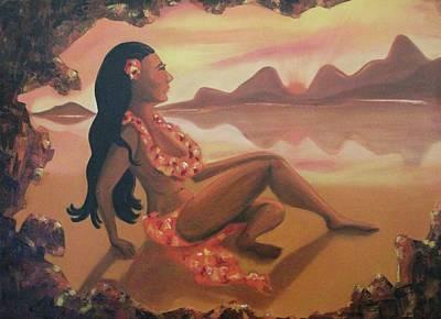 Hawaiian Girl Poster
