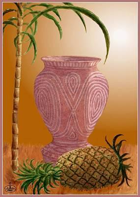 Hawaiian Pineapple Poster by Ron Chambers