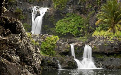 Hawaiian Waterfall Poster by Don Wolf