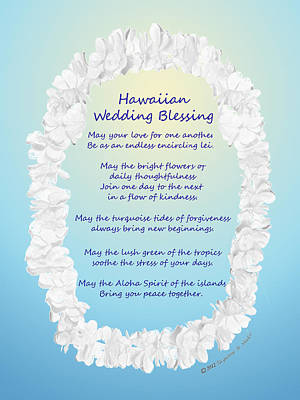 Hawaiian Wedding Blessing Poster