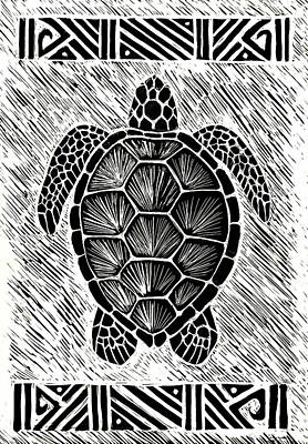 Hawaiiana Honu Poster by Kirsten Carlson
