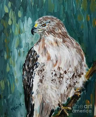 Poster featuring the painting Hawk by Maria Langgle