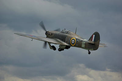 Poster featuring the photograph Hawker Hurricane Mk Xii  by Tim Beach