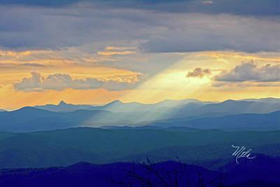 Hawks Bill Mountain Sunset Poster