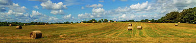 Poster featuring the photograph Hay Bales Panoramic by Barry Jones