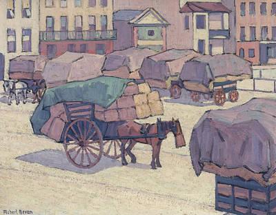 Hay Carts, Cumberland Market Poster