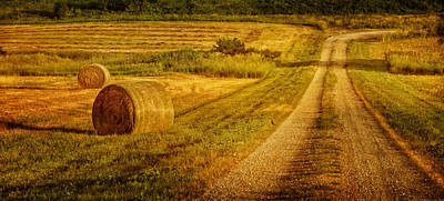 Hay Rolls - Country Road Poster