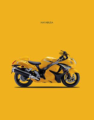 Hayabusa In Yellow Poster by Mark Rogan