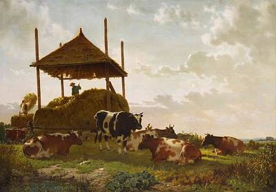 Haying Time Poster by William Tylee Ranney