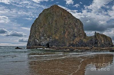 Haystack Rock Poster by Hilton Barlow