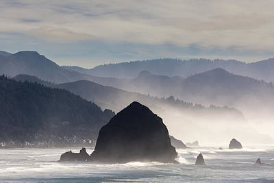 Haystack Rock On The Oregon Coast In Cannon Beach Poster