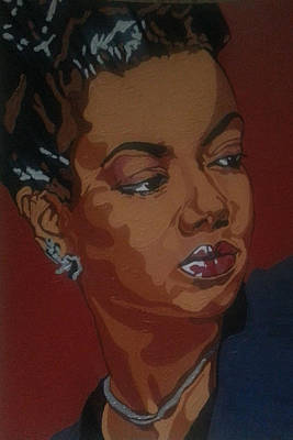 Poster featuring the painting Hazel Scott by Rachel Natalie Rawlins