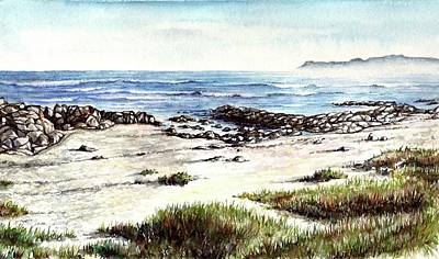 Poster featuring the painting Hazy Coastline by Heidi Kriel